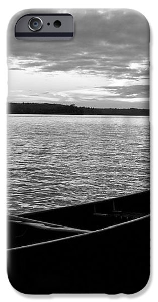 Abandoned Canoe Floating On Water iPhone Case by Keith Levit