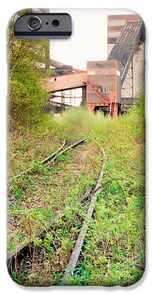 Industry iPhone Cases - Abandoned coal mine railway access Essen Germany iPhone Case by Stephan Pietzko