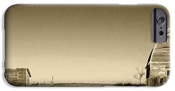 Shed iPhone Cases - Abandoned Farm Buildings iPhone Case by Donald  Erickson