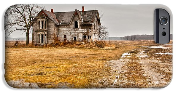 Abandoned iPhone Cases - Abandoned Farm House iPhone Case by Cale Best