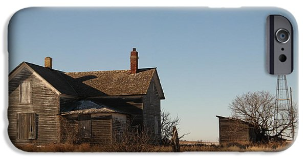 Buildings iPhone Cases - Abandoned farmhouse iPhone Case by Jeff  Swan