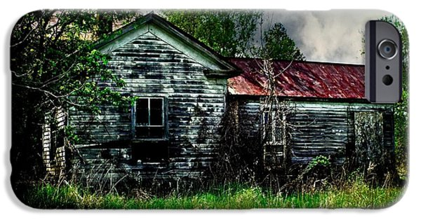 Old Barn iPhone Cases - Abandoned Farmstead iPhone Case by Jamie Holbrook