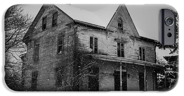 Haunted House iPhone Cases - Abandoned House iPhone Case by Kirkodd Photography Of New England