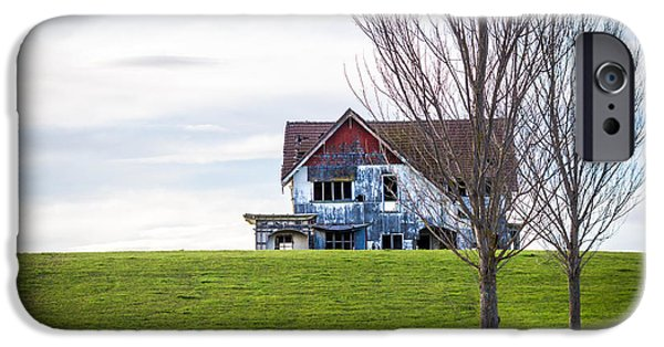 Haunted House iPhone Cases - Abandoned House On The Hill iPhone Case by Karen Wood