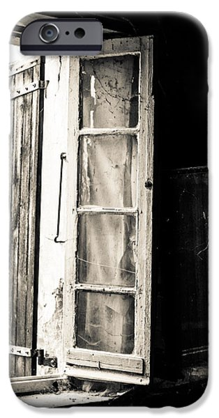 French Open iPhone Cases - Abandoned house window iPhone Case by Nomad Art And  Design