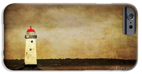 Abstract Seascape Photographs iPhone Cases - Abandoned Lighthouse iPhone Case by Meirion Matthias