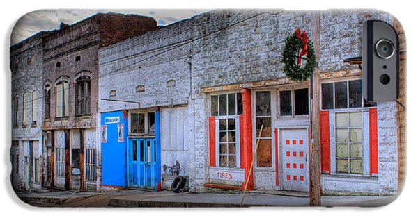 Arkansas iPhone Cases - Abandoned Main Street iPhone Case by Douglas Barnett