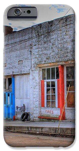 Abandoned Main Street iPhone Case by Douglas Barnett