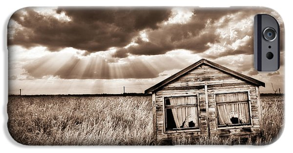 Shed iPhone Cases - Abandoned iPhone Case by Meirion Matthias