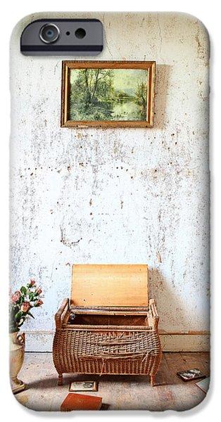 Town iPhone Cases - Abandoned Memories -urbex iPhone Case by Dirk Ercken
