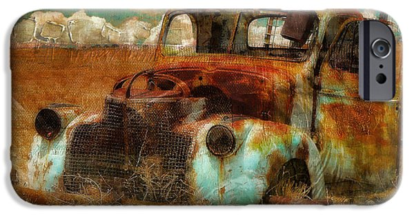 Antique Cars iPhone Cases - Abandoned iPhone Case by Mindy Sommers
