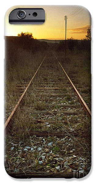 Vanishing iPhone Cases - Abandoned Railway iPhone Case by Carlos Caetano