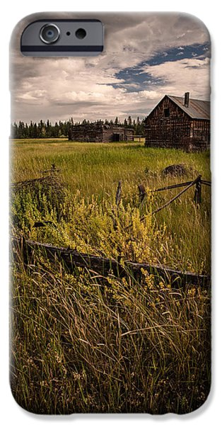 Farm House Pyrography iPhone Cases - Abandoned Ranch House iPhone Case by Rick Strobaugh