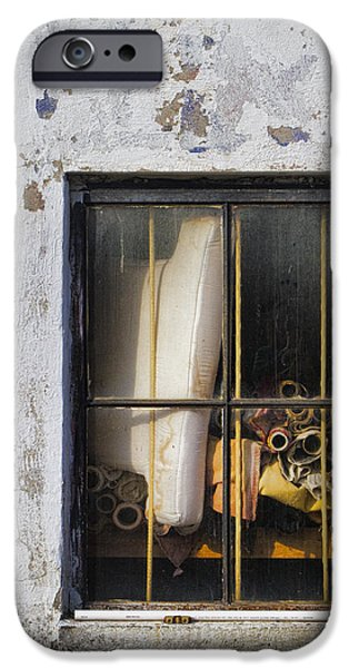 Frame Shop Digital iPhone Cases - Abandoned Remnants Ala Grunge iPhone Case by Kathy Clark