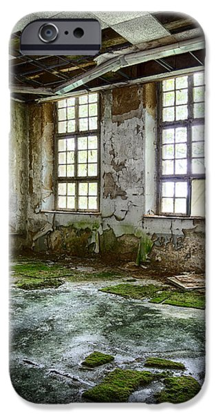 Haunted House iPhone Cases - Abandoned Room - Urban Decay iPhone Case by Dirk Ercken