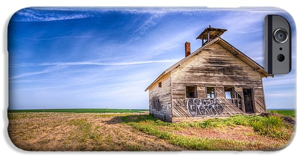Abandoned School House. iPhone Cases - Abandoned School House iPhone Case by Spencer McDonald