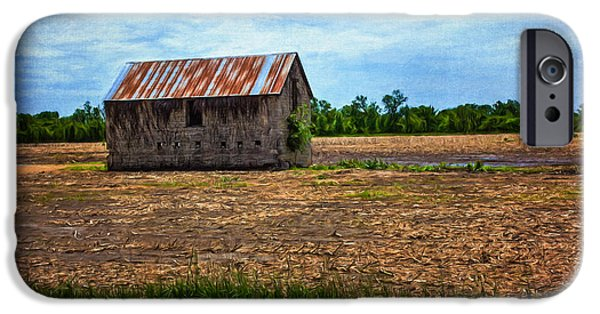 Old Digital Art iPhone Cases - Abandoned Stone Barn iPhone Case by Anna Surface