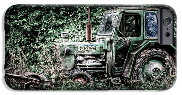 Machinery iPhone Cases - Abandoned Tractor iPhone Case by Gert Lavsen