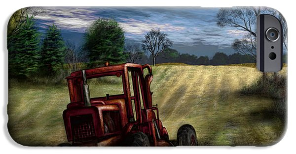 Machinery iPhone Cases - Abandoned Tractor iPhone Case by Ron Grafe