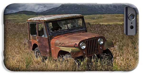 Vandalize Photographs iPhone Cases - Abandoned Vintage Willy Jeep iPhone Case by Randall Nyhof