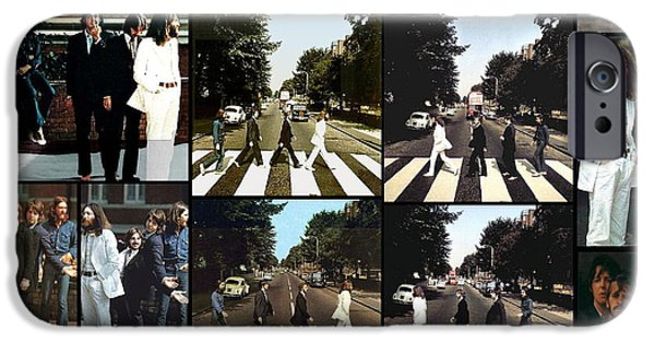 Starr iPhone Cases - Abbey Road Photo Shoot iPhone Case by Paul Van Scott