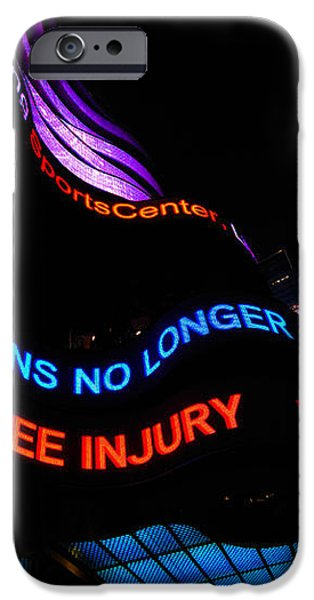 ABC News Scrolling Marquee in Times Square New York City iPhone Case by Amy Cicconi