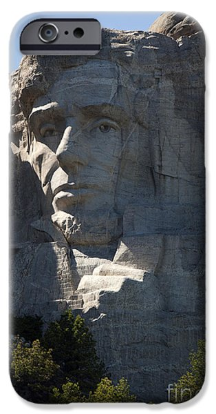 President iPhone Cases - Abe Lincoln Mount Rushmore National Monument - Mt. Rushmore iPhone Case by Jason O Watson