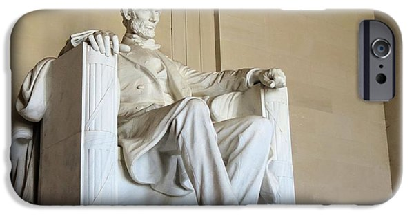 Lincoln iPhone Cases - Abe Seated iPhone Case by Carol Martin