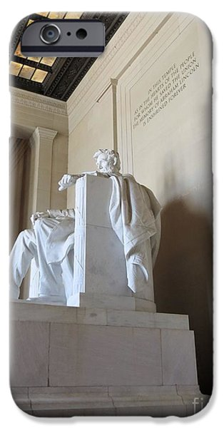Lincoln iPhone Cases - Abe with Skylights iPhone Case by Carol Martin