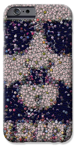 Abide Bottle Cap Mosaic iPhone Case by Paul Van Scott