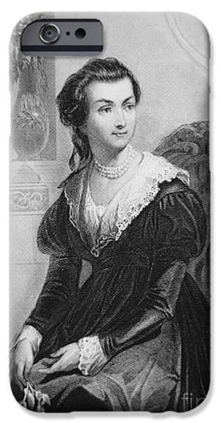 First Lady Portrait Drawings iPhone Cases - Abigail Smith Adams iPhone Case by American School