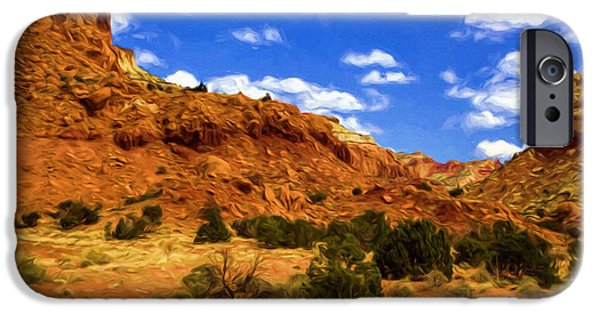Pinion Paintings iPhone Cases - Abiquiu iPhone Case by Jim Buchanan