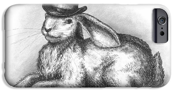 Alice In Wonderland Drawings iPhone Cases - Abracadabra iPhone Case by Adam Zebediah Joseph