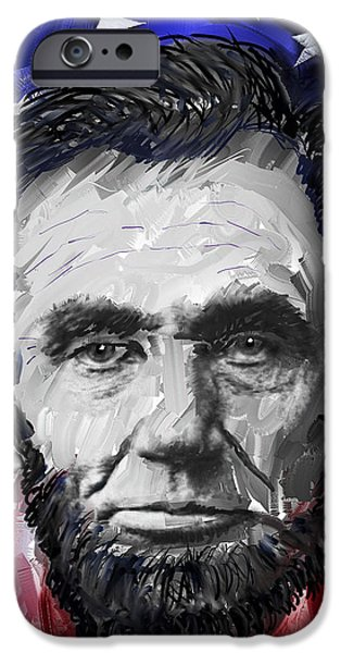 D.c. iPhone Cases - ABRAHAM LINCOLN - 16th U S PRESIDENT iPhone Case by Daniel Hagerman