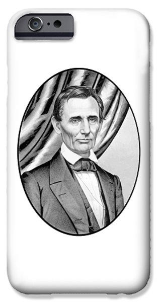 Abraham Lincoln iPhone Cases - Abraham Lincoln Circa 1860 iPhone Case by War Is Hell Store