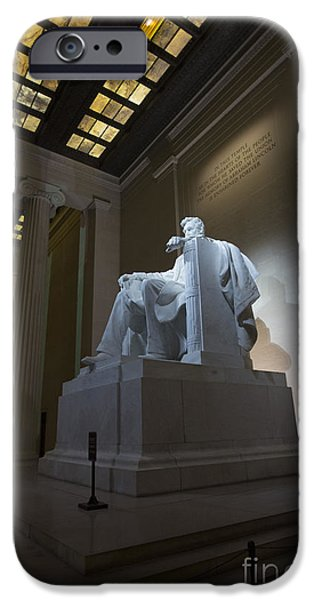 War iPhone Cases - Abraham Lincoln iPhone Case by David Bearden