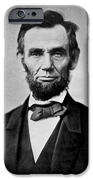 President iPhone Cases - Abraham Lincoln in 1863 iPhone Case by Jim Cox