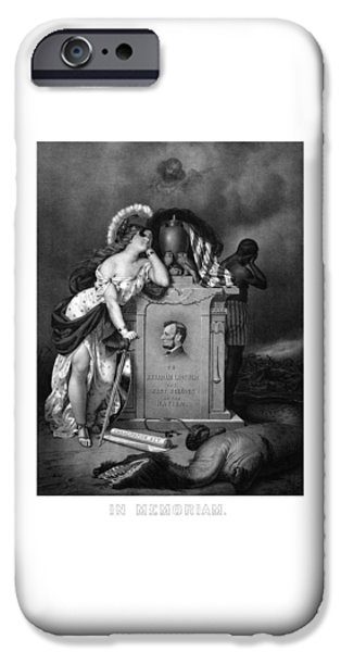 Civil Liberties iPhone Cases - Abraham Lincoln In Memoriam  iPhone Case by War Is Hell Store