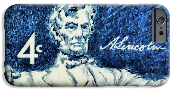 Democracy Paintings iPhone Cases - Abraham Lincoln iPhone Case by Lanjee Chee