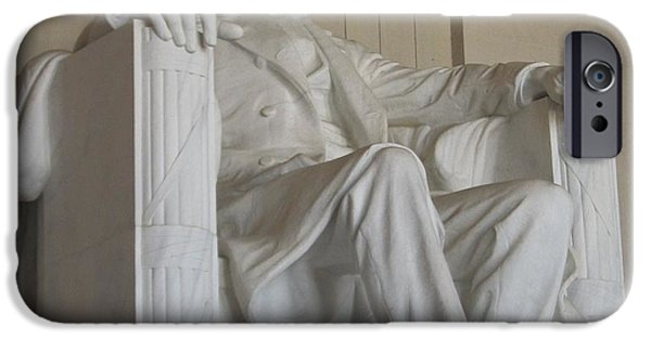 Lincoln iPhone Cases - Abraham Lincoln Memorial iPhone Case by Diane Leone
