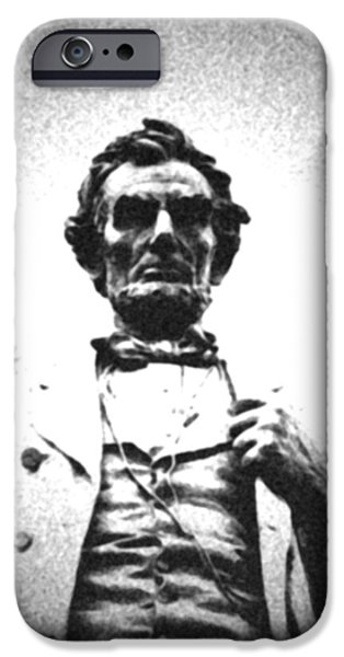 President iPhone Cases - Abraham Lincoln - The Man iPhone Case by Richard Andrews