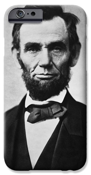 United Paintings iPhone Cases - Abraham Lincoln iPhone Case by War Is Hell Store