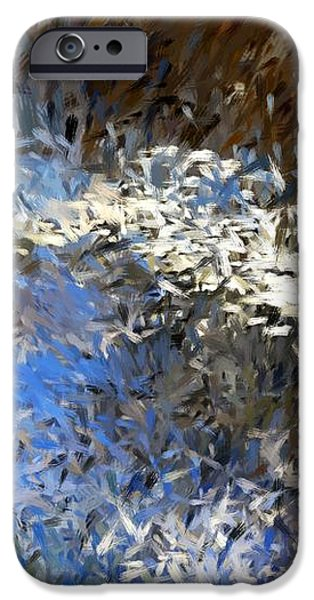 abstract 06-03-09b iPhone Case by David Lane
