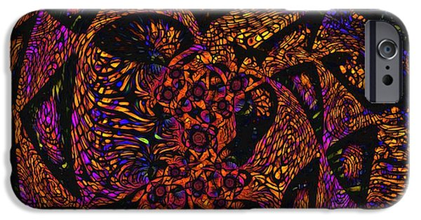 Abstract Digital iPhone Cases - Abstract 101001 iPhone Case by Jean-Marc Lacombe