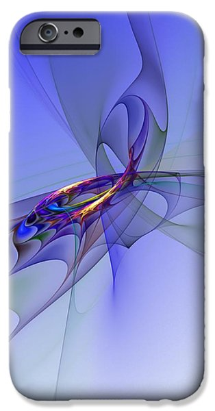 Abstract Digital Digital iPhone Cases - Abstract 110210 iPhone Case by David Lane