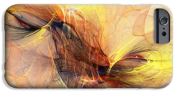 Expressionism Digital Art iPhone Cases - Abstract 111110A iPhone Case by David Lane