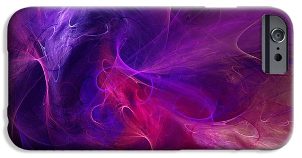 Abstract Digital Digital iPhone Cases - Abstract 111310B iPhone Case by David Lane