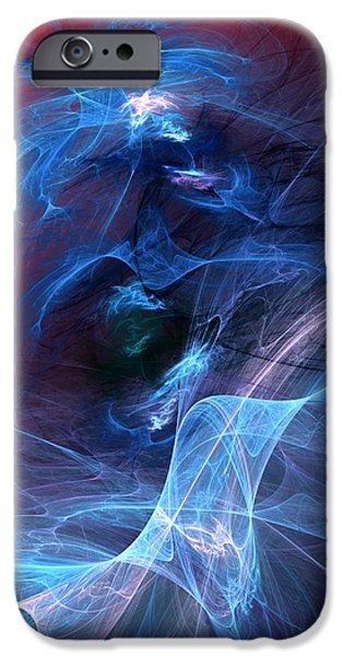 Abstract Digital Digital iPhone Cases - Abstract 111610 iPhone Case by David Lane