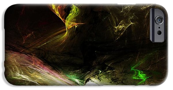 Expressionism Digital Art iPhone Cases - Abstract 112410 iPhone Case by David Lane