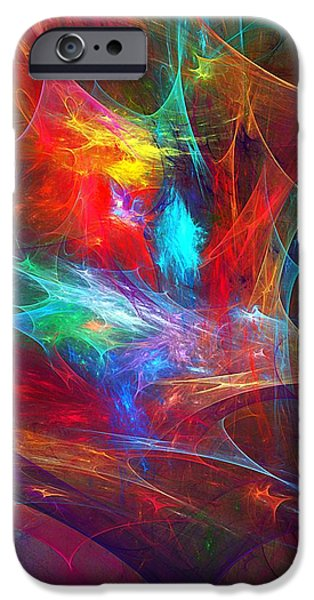 Expressionism Digital Art iPhone Cases - Abstract 112510 iPhone Case by David Lane
